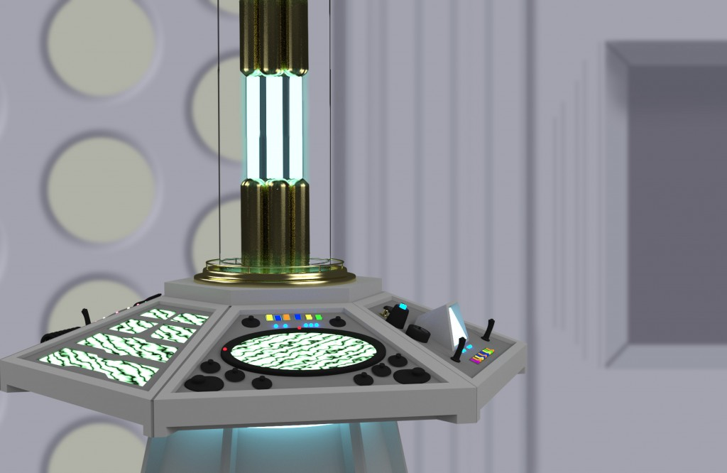 TARDIS console by Dave Shaver