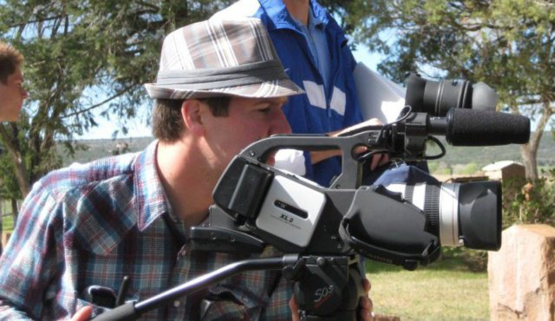 Filming the film camp short John's Miracle