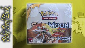 Sun and Moon Booster Box Opening - Poke Prof Zack