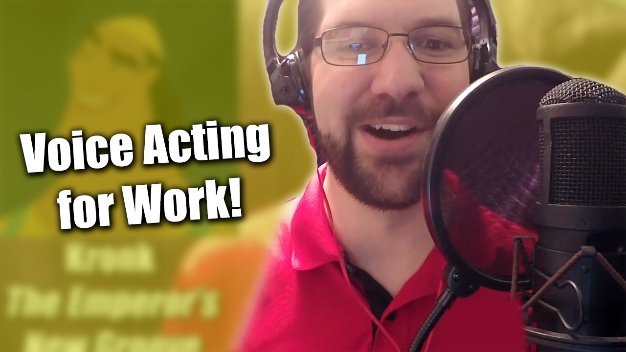 Voice Acting for Work | Zack Lawrence Vlog